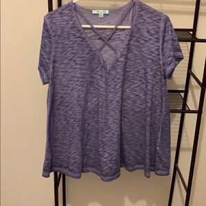 Light purple criss cross top